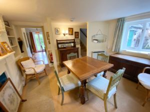 Dining at Chapel Cottage - Lee Bay